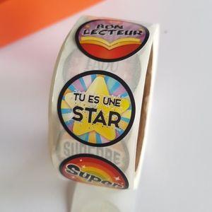 🆕 200 autocollants français professeurs parents